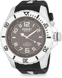 Kyboe - Stainless Steel Blue Dial Silicone-strap Watch - Lyst