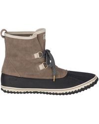 Sperry Top-Sider Schooner Slouch Lace-up Boots - Natural
