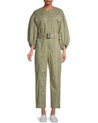 Jonathan Simkhai Puff-sleeve Jumpsuit - Green
