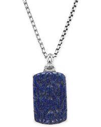John Hardy - Lapis Lazuli & Silver Dog Tag Pendant Necklace - Lyst
