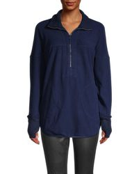 Free People Mountain Dreamin Half-zip Pullover - Blue