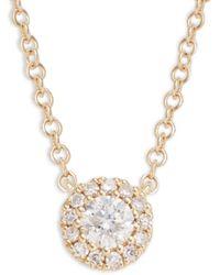 Saks Fifth Avenue - Women's 14k Yellow Gold Diamond Pendant Necklace - Lyst