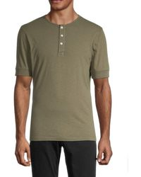 Madewell Short-sleeve Solid Henley - Green