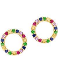 Lana Jewelry 14k Yellow Gold & Multicolour Sapphire Earrings - Metallic
