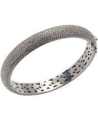 Arthur Marder Fine Jewelry Sterling Silver & Diamond Bangle Bracelet - Metallic