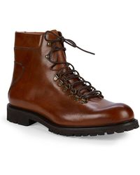 Saks Fifth Avenue Leather Hiker Boots - Brown