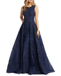 Mac Duggal Embroidered Ball Gown - Blue