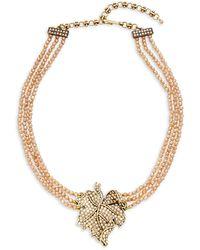 Heidi Daus Goldtone & Crystal Beaded Multi-strand Pendant Necklace - Multicolour