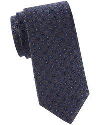 Brooks Brothers Men's Geometric Silk Tie - Navy - Blue