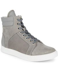 Kenneth Cole - Suede Hi-top Sneakers - Lyst