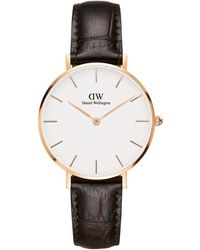 Daniel Wellington Petite York Rose Goldtone Stainless Steel & Croc-embossed Leather-strap Watch - Multicolour