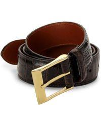 Saks Fifth Avenue Men's Crocodile Leather Belt - Dark Brown - Size 40
