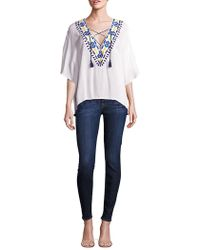 Piper - Java Lace-up Top - Lyst