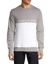 Calvin Klein - Logo Colorblock Sweatshirt - Lyst