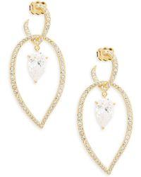 Adriana Orsini Calla Crystal Dangle Earrings - Metallic