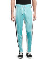PUMA Men's Trackstar Colorblock Side-panel Pants - Blue - Size Xl