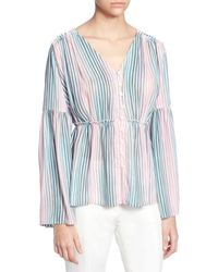 Catherine Malandrino Florrie Striped Blouse - Blue