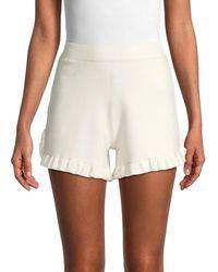 See By Chloé Women's Ruffled Elastic Shorts - Black - Size L