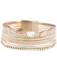 Saachi Georgia Two-tone & Crystal Bracelet - Metallic