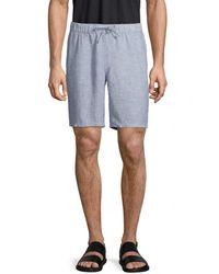Saks Fifth Avenue Men's Drawstring Linen Shorts - Norse Blue - Size L
