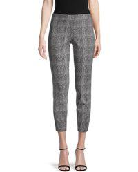 Nanette Lepore Women's Textured Stretch Pants - Cannoli Black - Size S
