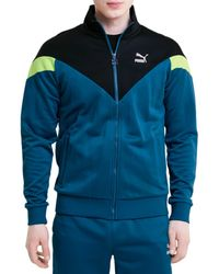 PUMA Men's Iconic Track Jacket - Blue - Size M