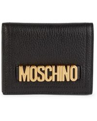 Moschino ! Women's Leather Foldover Wallet - Black