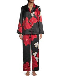 Natori 2-piece Floral Pyjama Set - Multicolour