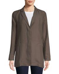 Eileen Fisher - Notch Collar Jacket - Lyst