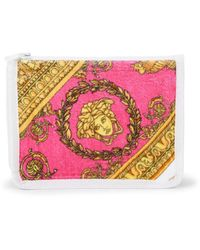 Versace Small Printed Cotton Pouch - Pink