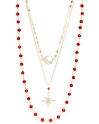 Panacea Goldtone & Mother-of-pearl Layered Necklace - Multicolour