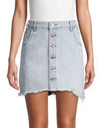 One Teaspoon Viper Blue Denim Mini Skirt