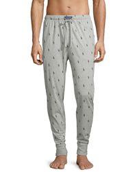 Polo Ralph Lauren Men's Logo-print Cotton Pyjama Pants - Grey - Size M