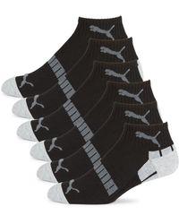 PUMA 6-pack Signature Logo Terry Socks - Grey