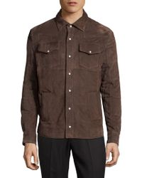 Eidos - Leather Button-down Shirt - Lyst