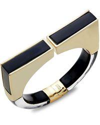 Alexis Bittar Goldplated Lucite Hinge Bracelet - Blue