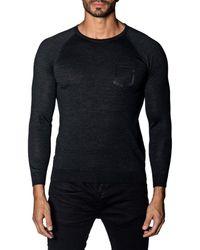 Jared Lang Men's Trim-fit Lightweight Jumper - Charcoal - Size Xxxl - Blue