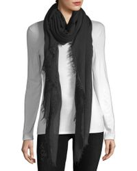 La Fiorentina - Frayed Ombre Scarf - Lyst