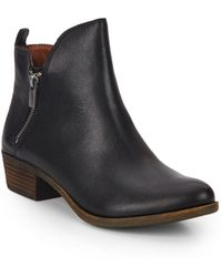 Lucky Brand - Basonta Leather Ankle Boots - Lyst