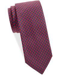 Saks Fifth Avenue Textured Silk Tie - Purple