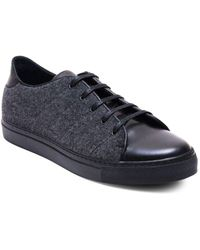 Jared Lang - Leather & Fabric Low-cut Trainers - Lyst