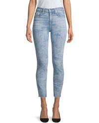 7 For All Mankind Roxanne High-waist Cut Hem Jeans - Blue