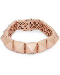 Eddie Borgo 14k Rose Gold-plated Pyramid Bracelet - Multicolour