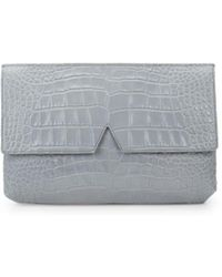 Vince Embossed Leather Clutch - Multicolour