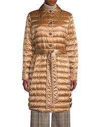 Lafayette 148 New York Delroy Quilted Tech Satin Coat - Natural