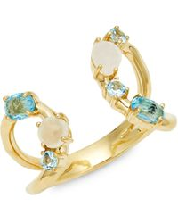 Ippolita 18k Yellow Gold, Two-tone Topaz & Mother-of-pearl Ring - Metallic