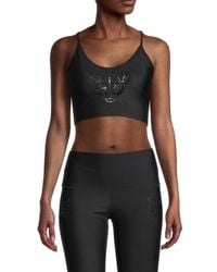 Electric Yoga Women's Panther Sports Bra - Hot Pink - Size S - Black