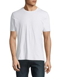 Vince - Seamless Double-layer Cotton Tee - Lyst