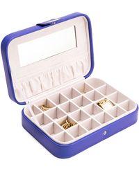 Bey-berk 24-section Jewelry Case - Blue