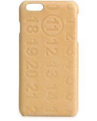 Maison Margiela Calf Leather Iphone 5 Case - Natural